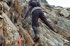 Klettern am hinteren Sajatkopf