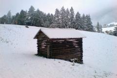 Schnee im Tal