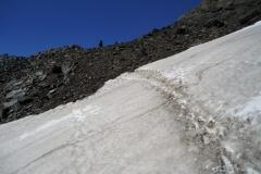 Querung eines Schneefeldes