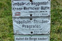 Schilder mit Geschichte