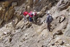 Steilabstieg von der Zopetscharte